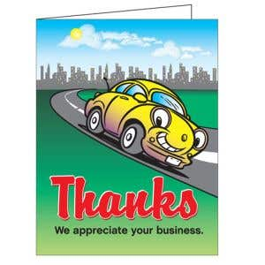 Thank You Card - Happy Car