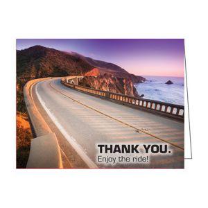"""Thank You Card - Shoreline """"Enjoy the ride!"""""""