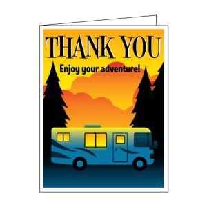 "Thank You Card - RV ""Enjoy Your Adventure!"""