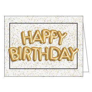 Happy Birthday Card - Balloon Letters