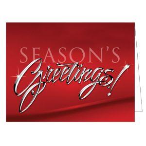 "Holiday Card - Chrome ""Season's Greetings"""