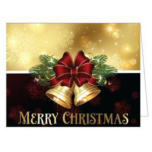 "Christmas Card - Bells ""Merry Christmas"""