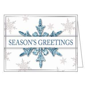 Holiday Card - Frosty Snowflakes