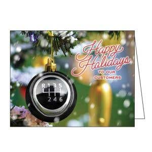 Holiday Card - Gearshift Ornament