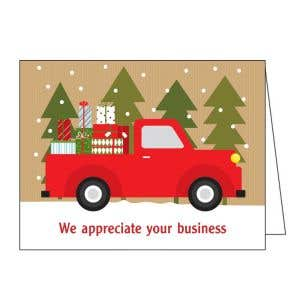 Holiday Card - Truck with Gifts