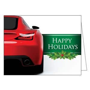 Holiday Card - Red Sports Car