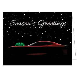 Holiday Card - Car with Bow