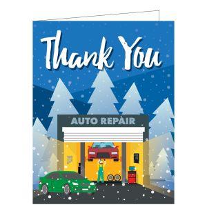 "Holiday Card - Repair Shop ""Thank You"""