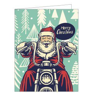 Holiday Card - Motorcycle Santa