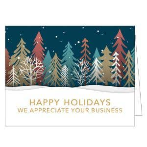 Holiday Card - Snow Forest
