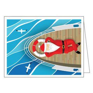Holiday Card - Santa on Boat Deck