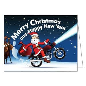 Christmas Card - Show Off Santa