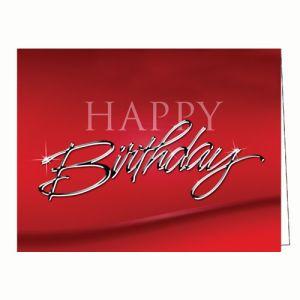 Happy Birthday Card - Chrome Design
