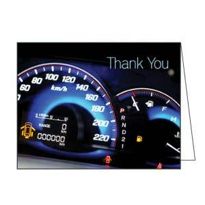 Thank You Card - Dashboard