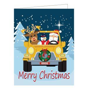 Christmas Card - Santa and Friends