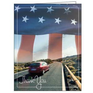 Thank You Card - Patriotic Road