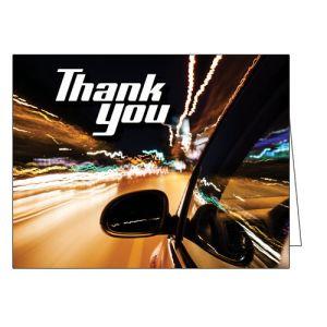 Thank You Card - Night Lights