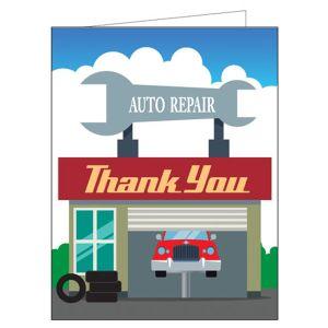 Service Thank You Card - Car Garage