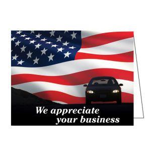 "Thank You Card - ""We appreciate"" Flag Design"
