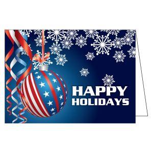 Holiday Card - Patriotic Ornaments