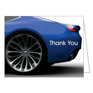Thank You Card - Blue Car