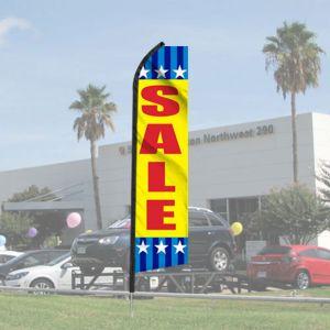 "Sales Wave Flag Kits - ""Sale"" Star Border"