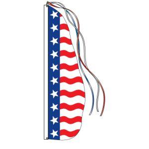 Patriotic Wave Flag - Stars