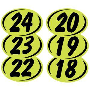2 Digit Year Windshield Stickers - Green
