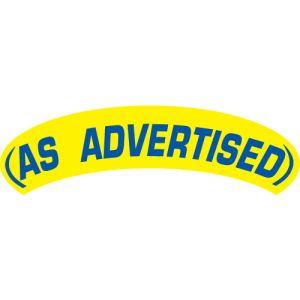 Arch Slogan Windshield Sticker - Blue on Yellow