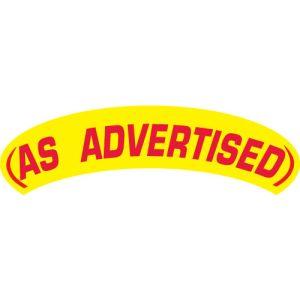 Arch Slogan Windshield Sticker - Red on Yellow