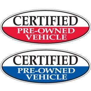 "Oval Slogan Windshield Stickers - ""Certified"""
