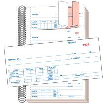 Cash Receipt Book - 2 Part without Personalization