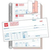Cash Receipt Book - 2 Part with Personalization
