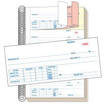 Cash Receipt Book - 3 Part without Personalization