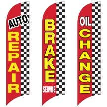 Service Wave Flags - Checkered Edge