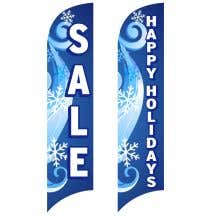 Holiday Wave Flags for Sales - Winter Swirl