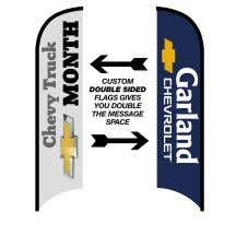 Double-Sided Custom Wave Flags