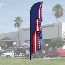 3D Wave Flag Kits - Patriotic Scroll - Blue
