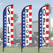 Each kit includes: flag, metal pole and choice of base!