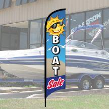"Wave Flag Kits - ""Boat Sale"" Sun"