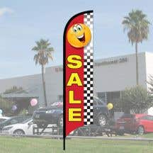 Get year around advertising with windless wave flags!