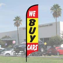 "Sales Wave Flag Kits - ""We Buy Cars"""