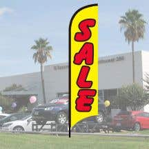 """Sales Wave Flag Kits - """"Sale"""" Red on Yellow"""