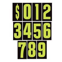 "Number Windshield Sticker Kit - 9.5"" Green"