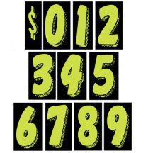 "Number Windshield Sticker Kit - 11.5"" Green"