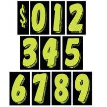 """Number Windshield Stickers - 11.5"""" Green"""