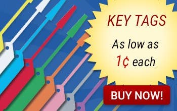Key Tags as low as 1¢ each