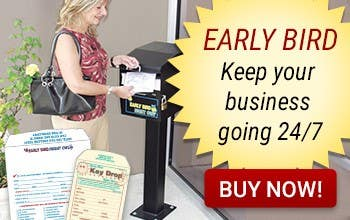 Early Bird Key Drop Box Keep your business going 24/7