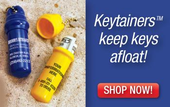 Keytainers keep keys afloat