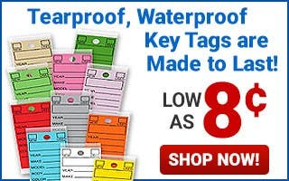 Laminated Keytags As Low As $0.08 Each